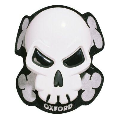 Oxford Skull Fehér Térdkoptatók Ox682
