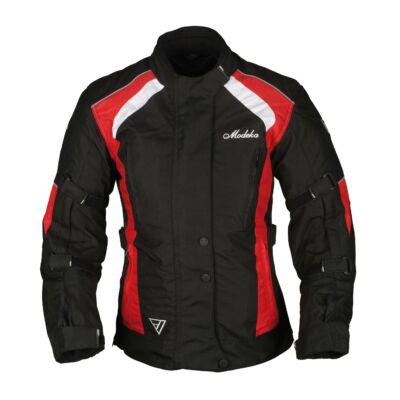 Modeka Janika Háromrétegű Női Motoros Kabát Fekete/Piros