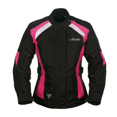 Modeka Janika Háromrétegű Női Motoros Kabát Fekete/Rózsaszin