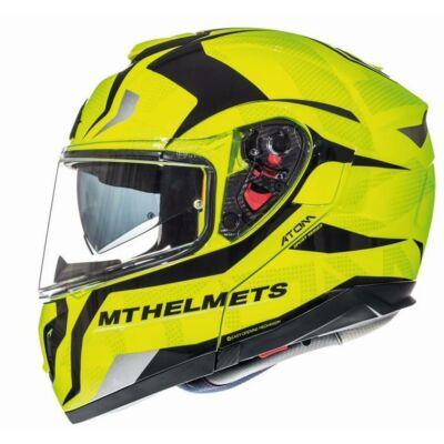MT Helmets Atom SV Divergence F1 Fényes Neonsárga Felnyitható Motoros Bukósisak