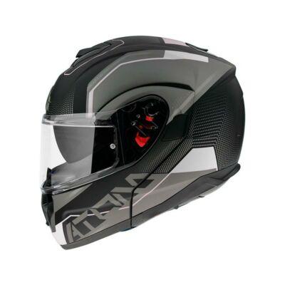 MT Helmets Atom SV Quark A0 Fekete/Szürke Felnyitható Motoros Bukósisak