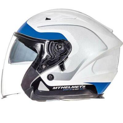 MT Helmets Avenue SV Kék/Fehér Nyitott Motoros Bukósisak (OUTLET)