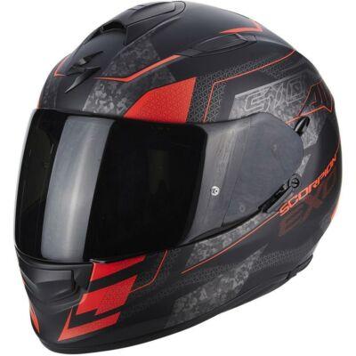 Scorpion EXO 510 Galva Piros/Fekete Zárt Motors Bukósisak (OUTLET)