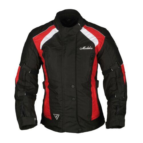 Modeka Janika Háromrétegű Női Motoros Kabát Fekete/Piros (OUTLET)