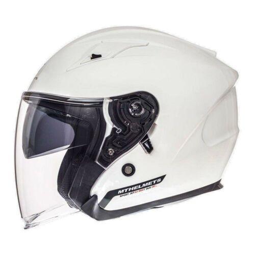 MT Helmets Avenue SV Solid Gyöngyfehér Nyitott Motoros Bukósisak