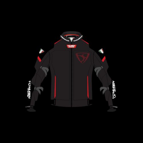Mugen Mash NJ-MNR-1930 NŐI Fekete/Piros Motoros Textilkabát